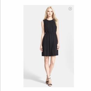 Kate Spade NY Pleated Crepe Dress In Black